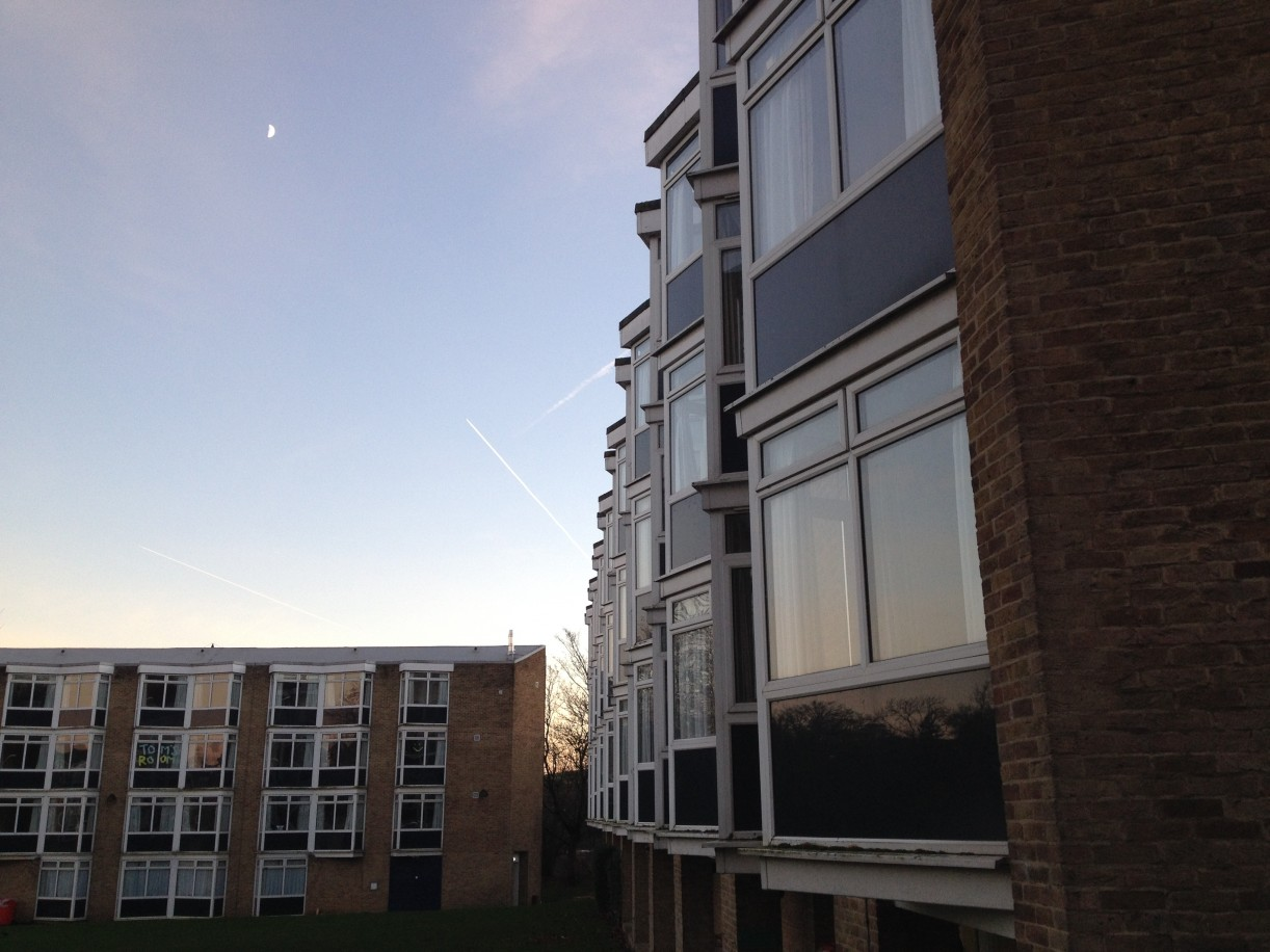 Triangular window profiles at Van Mildert College