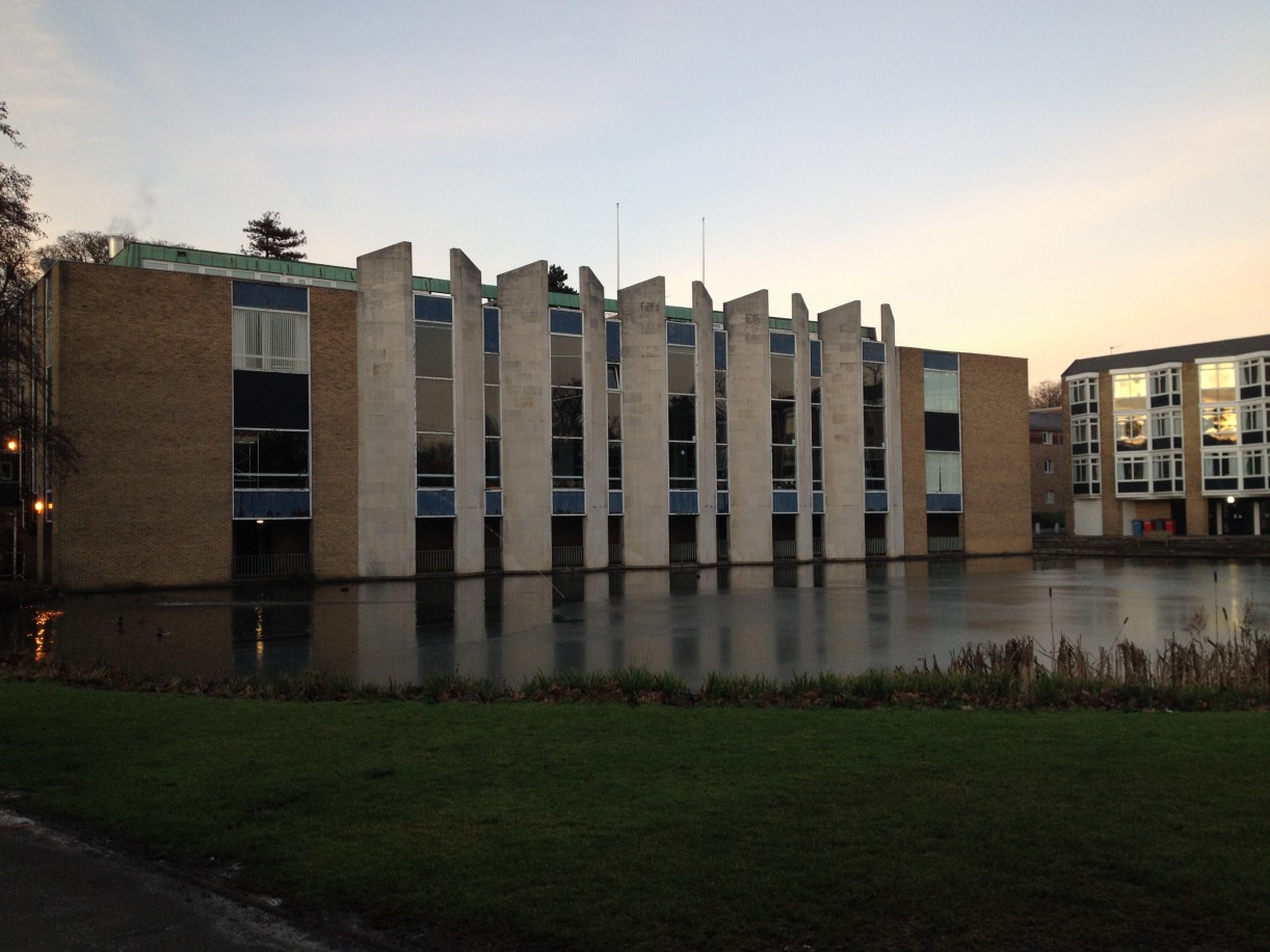 Van Mildert College halls and lake